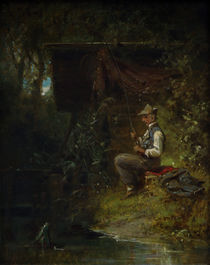 Man Fishing / C. Spitzweg / Painting c.1840 by AKG  Images