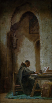 Carl Spitzweg, Monk studying by AKG  Images