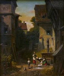Spitzweg / At the City Well /  c. 1865 by AKG  Images