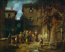 Spitzweg / Street Musicians / Painting by AKG  Images