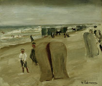 Max Liebermann, Beach with beach chairs by AKG  Images