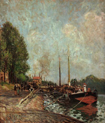 Sisley / Barque in Billancourt / 1877 by AKG  Images