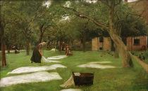 Liebermann / Grass-Bleaching / Painting by AKG  Images