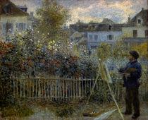 Claude Monet beim Malen / Gem. v. Renoir von AKG  Images