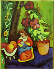 August Macke / Still Life with Madonna by AKG  Images