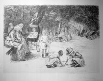 Liebermann / Children Playing / Etching by AKG  Images