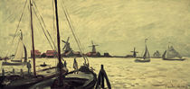 C.Monet, The banks of the river Zaan by AKG  Images