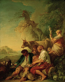 F.Boucher, Pastoral Landscape / Paint. by AKG  Images