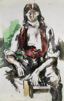 Cézanne / Young man with Red Vest by AKG  Images