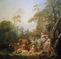 F.Boucher, Rural Idyll / Paint. /  c. 1735 by AKG  Images