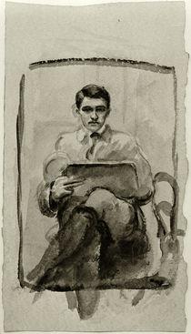 August Macke, Selbstbildnis zeichnend by AKG  Images