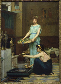 J.W.Waterhouse / Household Gods / 1880 by AKG  Images