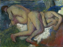 Degas / Two Women Bathing / Pastel by AKG  Images