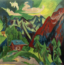 Ernst Ludwig Kirchner, The Klosters Mountains by AKG  Images