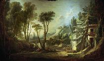 F.Boucher, Pastoral Landscape / Ptg./1741 by AKG  Images