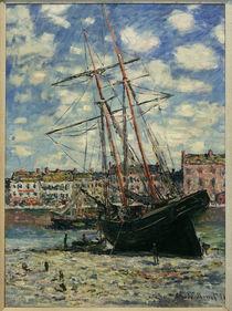 Monet, Auf Kiel gelegtes Schiff von AKG  Images