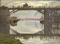 C.Monet, Die Holzbrücke / 1872 von AKG  Images