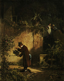 Carl Spitzweg / Der Gartenfreund /c. 1860 by AKG  Images