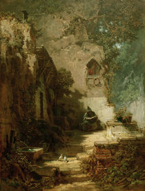 The Hermit /  C. Spitzweg / Painting by AKG  Images