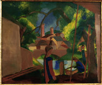 August Macke / Children by the Fountain by AKG  Images