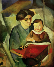 August Macke, Elisabeth and Walterchen by AKG  Images