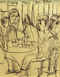 Ernst Ludwig Kirchner, At the table in the café by AKG  Images