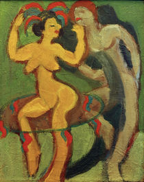 Ernst Ludwig Kirchner, Yellow Dancer with Grey Partner by AKG  Images