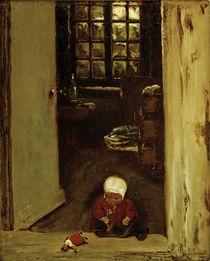 M.Liebermann, Spielendes Kind in Haustür von AKG  Images
