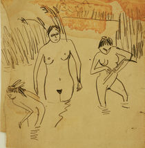 E.L.Kirchner / Bathers at Moritzb. Lake by AKG  Images
