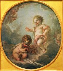 F.Boucher, Jesuskind segnet Johannes... von AKG  Images