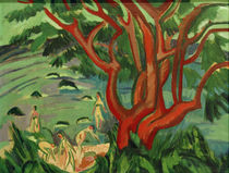 Ernst Ludwig Kirchner, Red tree at the beach by AKG  Images