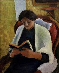 A.Macke, Lesende Frau im roten Sessel. by AKG  Images