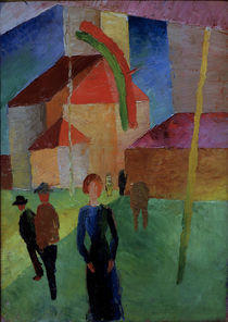 August Macke / Church with Flag by AKG  Images