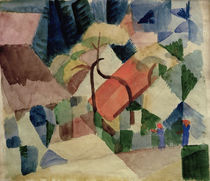 August Macke / Village Houses with Gardens by AKG  Images