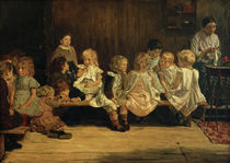 Primary School in Amsterdam / M. Liebermann / Painting, 1880 by AKG  Images