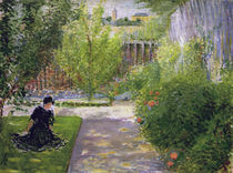 A.Macke, Sonniger Garten von AKG  Images