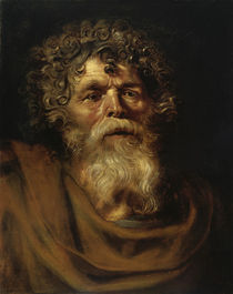 P.P.Rubens, Bearded Old Man / Paint. by AKG  Images