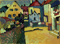 Gruengasse in Murnau / Kandinsky / Painting, 1909 by AKG  Images