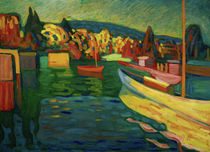 W.Kandinsky, Autumn Landscape With Boats by AKG  Images