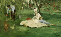 The Monet family in the garden / E.Manet by AKG  Images