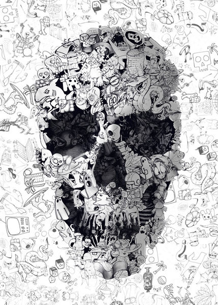 Doodle-skull-bw