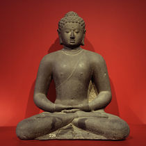 Buddha Amitabha / Stone / Indonesian. by AKG  Images
