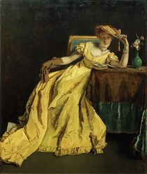 A.Stevens, The Lady in Yellow / Painting by A.Stevens, 1863 by AKG  Images