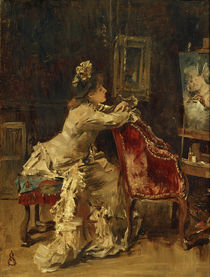 Waiting or The Studio / A. Stevens / Painting, c.1870/75 by AKG  Images