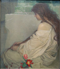 A.Mucha, Girl with Tulips by AKG  Images