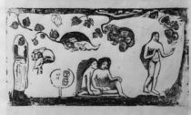 Gauguin / Women, Animals and Leaves by AKG  Images