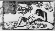 Gauguin / Te Arii Vahine-Opoi / Woodcut by AKG  Images