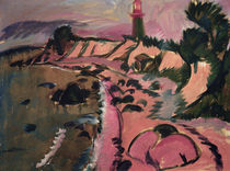 E.L.Kirchner, Fehmarnküste m. Leuchtturm von AKG  Images