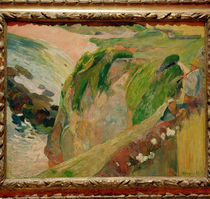 Gauguin / Flut Player on th. Cliffs/ 1889 by AKG  Images