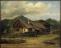 C.Morgenstern, Bauernhäuser in Schlehdorf von AKG  Images